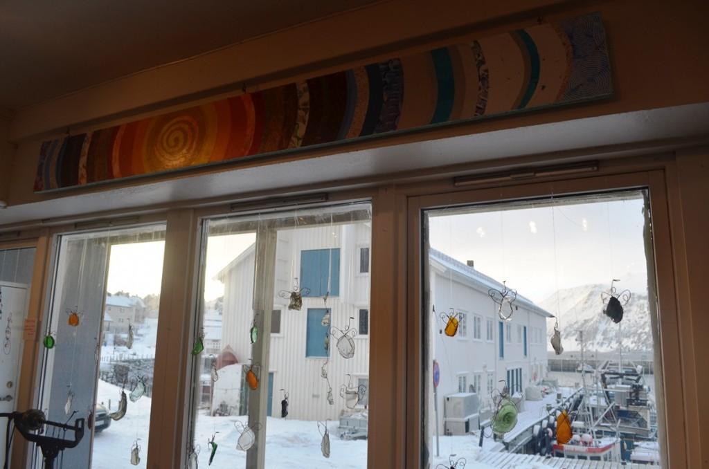 Uitzicht vanuit de winkel van Erica from America in Honningsvag