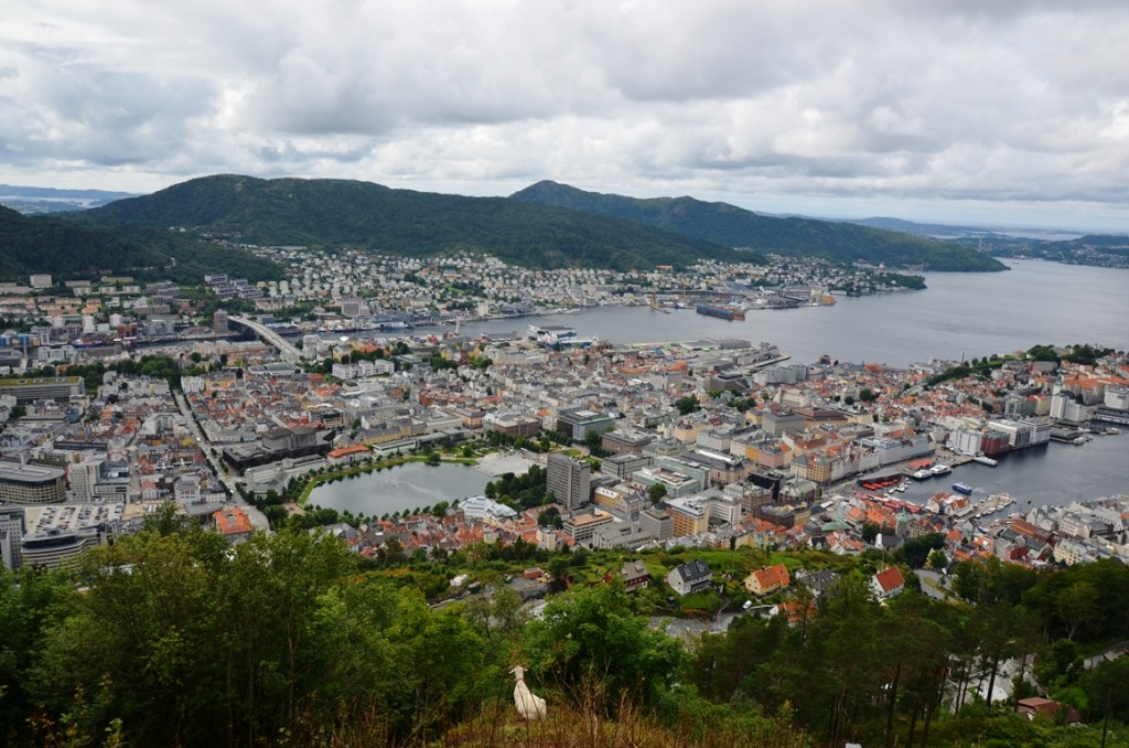 Bergen in Noorwegen