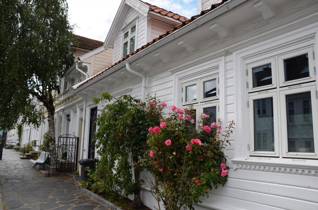 Straatje in Kristiansand, Noorwegen