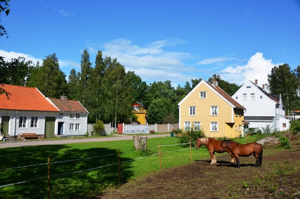 Openluchtmuseum bij Kristiansand in Noorwegen