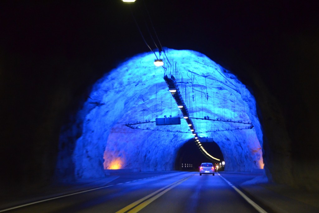 Tunnel bij Laerdal in Noorwegen
