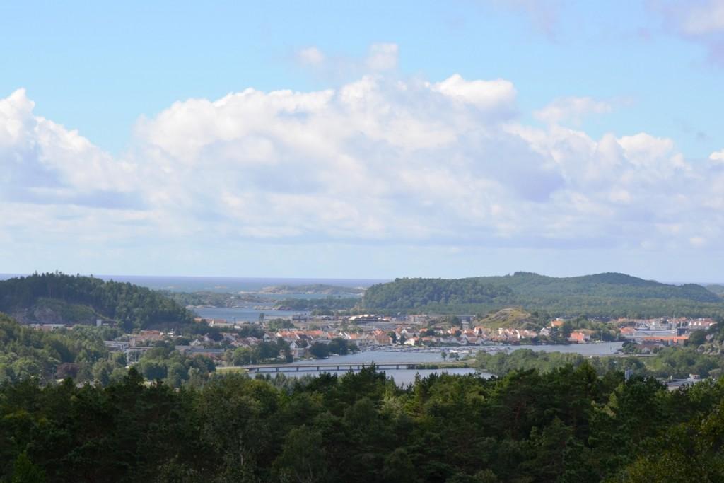 Mandal bij Kristiansand in Noorwegen